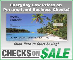 Checks on Sale Personal Bank Checks
