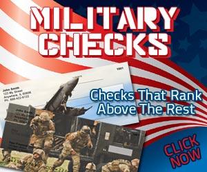Military Personal Bank Checks