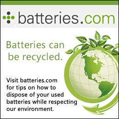 Batteries can be recycled.