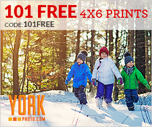 101 Free 4X6 Photo Prints!