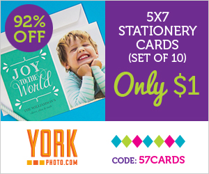 Custom Photo 5X7 Stationary Holiday Cards – Just $1 – Save $11.99!