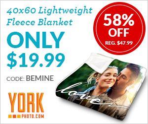 Custom 40X60 Lightweight Fleece Blanket – Just $19.99 – Save $28 on Each!