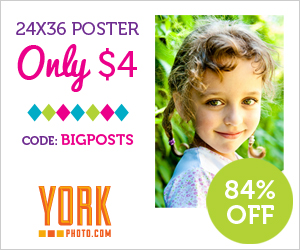 24X36 Custom Photo Poster OR Custom Growth Chart – Only $4 – Save $20.99!