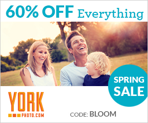 YorkPhoto Spring Sale -60% Off Everything!
