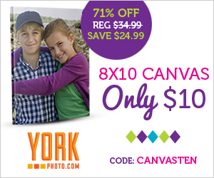 8X10 Photo Canvas - Only $10 - Save $24.99!