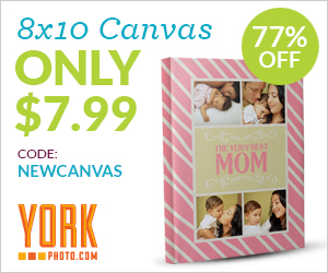 Custom 8X10 Gallery Wrapped Photo Canvas – Only $7.99 – Save $27!