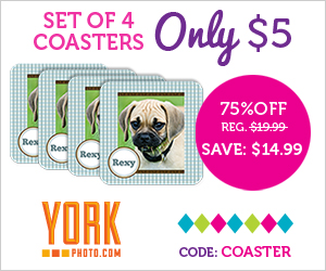 Set Of 4 Custom Photo Coasters – Only $5 – Save $14.99!