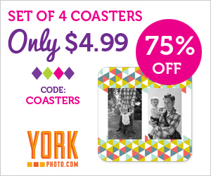 Set Of 4 Custom Photo Coasters – Only $4.99 – You Save $15!