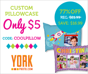 Custom Photo Pillowcase - Just $5 - Save $16.99!