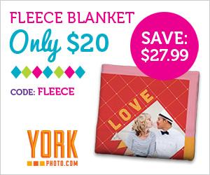 Custom Photo Fleece Blanket - Just $20 - Save $27.99!