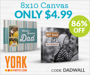 Custom 8X10 Photo Canvas – Only $4.99 – Save $30!