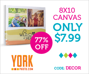 Gallery Wrapped 8X10 Photo Canvas – Only $7.99 – Save $27!