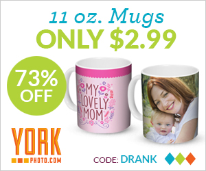Custom 11 OZ Photo Mug – Just $2.99 + 40 Free Prints!