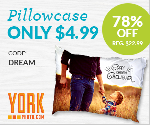 Custom Photo Pillowcase – Just $4.99 – Save $18 On Each!
