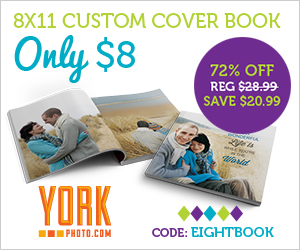 8X11 Custom Cover Photo Book Only $8 - Save $20.99!