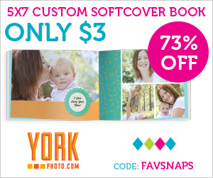 5x7 Custom Cover Photo Book – Only $3 – Save $7.99!