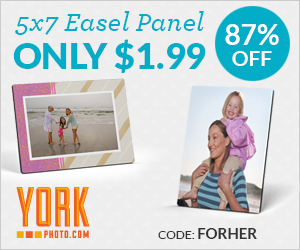 5X7 Custom Photo Easel Panel– Only $1.99 – Save $13!
