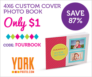 4X6 Custom Cover Photo Book Just $1 OR 5X7 Custom Cover Photo Book Just $2!