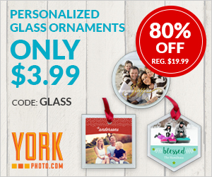 Personalized Glass Ornaments – Only $3.99 – Save $16!