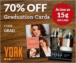 70% Off Custom Graduation Cards!