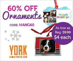 60% Off Custom Christmas Ornaments!