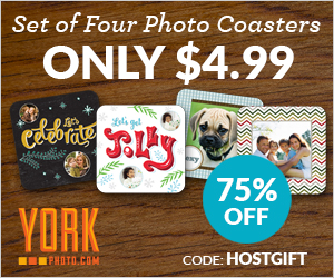 Set Of 4 Photo Coasters – Only $4.99 – You Save $15!