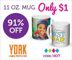 For Dad: $1 Custom 11 OZ Photo Mug – Save $9.99!