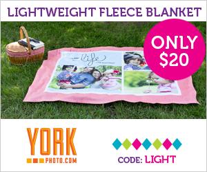 Lightweight Custom Photo Fleece Blanket – Just $20 – Save $27.99!