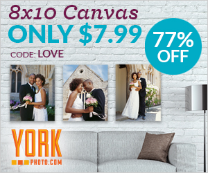 8X10 Photo Canvas – Only $7.99 – Save $27!
