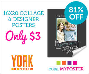 16X20 Photo Collage & Designer Poster – Just $3 – Save 12.99!