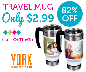 Custom Photo Travel Mug – Just $2.99 – Save $14!