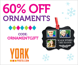 60% Off Custom Photo Ornaments!