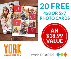 20 FREE Custom Holiday Photo Cards – Save Up To $18.99!