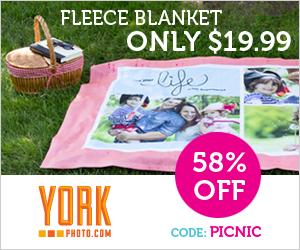 Custom Photo Fleece Blanket – Just $19.99 – Save $28!