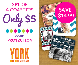Set Of 4 Custom Coasters – Only $5 – You Save $14.99!