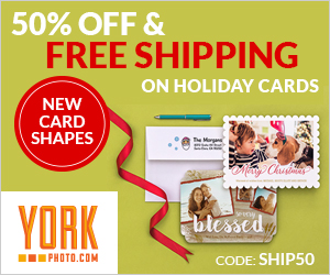 Save Big On Holiday Cards – 50% Off AND Free Shipping!