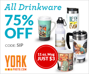 All Custom Drinkware 75% Off – Save Up To $74!