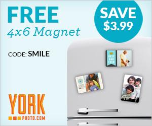 Free 4X6 Photo Magnet!