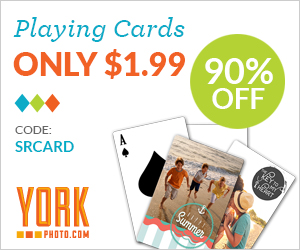 Custom Photo Playing Cards  – Only $1.99 – Save $20!