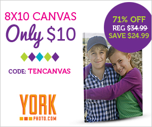 8X10 Canvas Photo Print - Only $10 - Save $24.99!