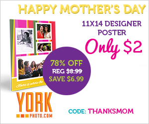 Happy Mother's Day - Pick Your Offer: Order An 11X14 Designer Poster -- OR -- a 4X6 Softcover Photo Book For Only $2!