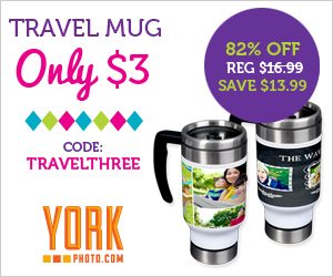 Custom Photo Travel Mug – Just $3 – Save $13.99!