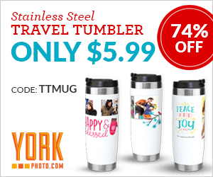 Custom Photo Travel Tumbler - Just $5.99 – Save $17!
