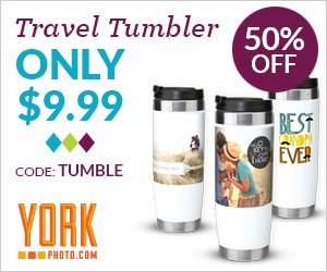 Custom Photo Travel Tumbler – Only $9.99 – Save $10!