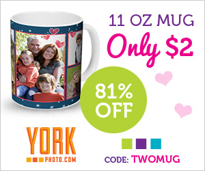 Custom Photo Mug – Only $2 – Save $8.99!