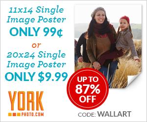 99¢ 11X14 Single Image Poster OR $9.99 20X24 Single Image Poster!