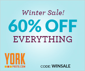 YorkPhoto Winter Sale - 60% Off Everything!