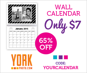 Custom Photo Wall Calendar – Only $7 – Save $12.99!