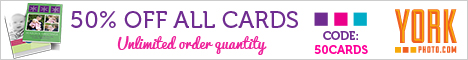 50% Off All Cards (Holiday, Invitations, Announcements and more)!