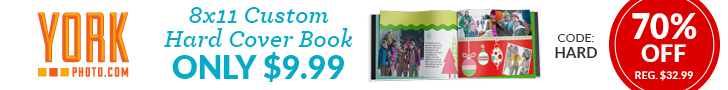 8X11 Custom Hard Cover Photo Book – Only $9.99 – Save $23!